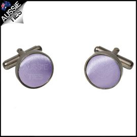 Mens Lavender Lilac Purple Cufflinks