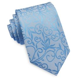 Light Blue Floral with Highlights Mens Tie