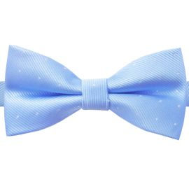 light blue with polka dots bow tie