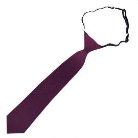 Maroon Deep Burgundy Junior Boys Elasticated Tie
