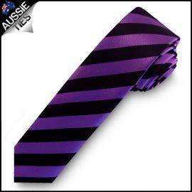Purple & Black Mens Skinny Tie