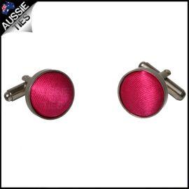 Mens Bright Hot Pink Cufflinks