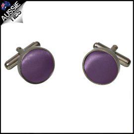 Mens Grape Eggplant Purple Cufflinks