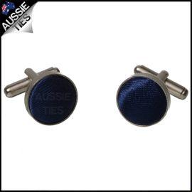 Mens Navy Dark Blue Cufflinks