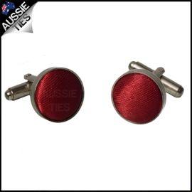 Mens Scarlet Red Cufflinks