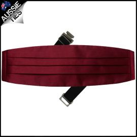 Mens Burgundy Red Cummerbund