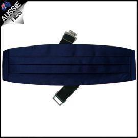 Mens Navy Dark Blue Cummerbund