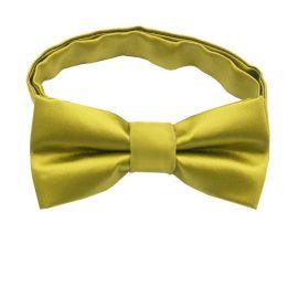 Metallic Gold Boys Bow Tie