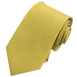 Mens Metallic Gold Tie