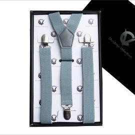 Men's Mid Grey Braces Suspenders Y2.5cm