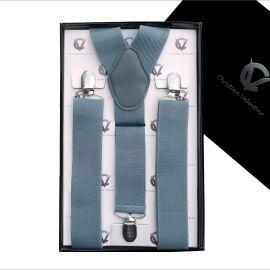 Men's Mid Grey Large Braces Y3.5cm