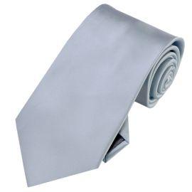 Silver Mens Tie