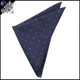 Midnight Blue Pin Dot Pocket Square Handkerchief