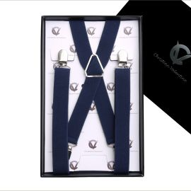 Boy's Midnight Blue Braces Suspenders X2.5cm