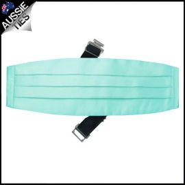 Mens Light Mint Green Tiffany Cummerbund