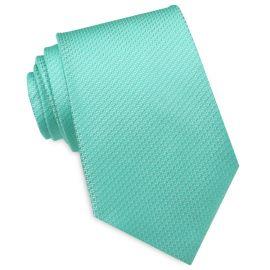 Mint Green Woven Texture Mens Tie