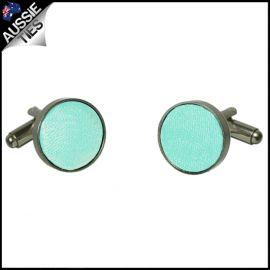Mens Light Mint Green Tiffany Cufflinks