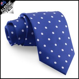 Navy Blue Polka Dot Mens Tie