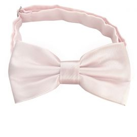 nude / pale pink bow tie
