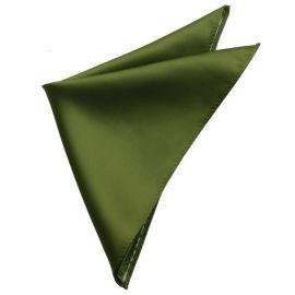 Mens Olive Green Pocket Square