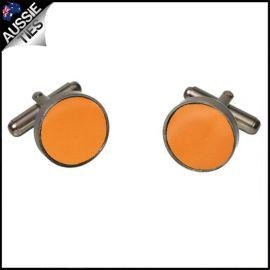 Mens Orange Cufflinks
