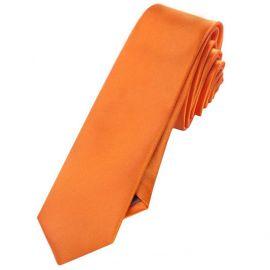 Mens Orange Skinny Tie