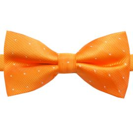 orange with polka dots bow tie