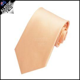 Boys Peach Apricot Plain Necktie