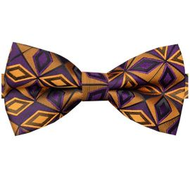 purple and orange bow tie