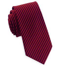 Red & Black Thin Stripes Mens Tie