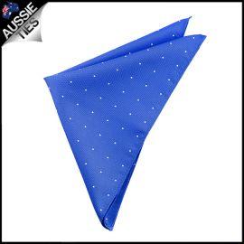 Royal Blue Pin Dot Pocket Square Handkerchief
