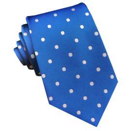 Royal Blue Polka Dot Mens Tie