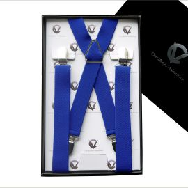 Boy's Electric Blue Braces Suspenders X2.5cm