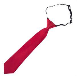 Scarlet Red Junior Boys Elasticated Tie