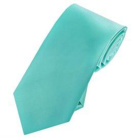Mens Sea Mist Turquoise 7cm Slim Tie