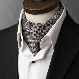silver and black interlocking design