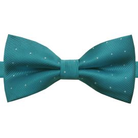 teal with polka dots bow tie