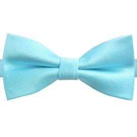 turquoise with polka dots bow tie