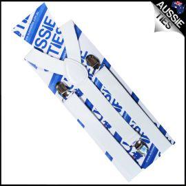 White Braces Suspenders