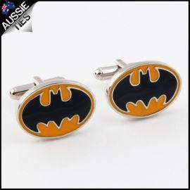 Mens Yellow and Black Batman Cufflinks