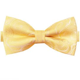 Light Gold Paisley Bow Tie