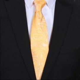 Yellow Paisley Mens Tie