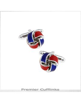 Red and Blue Knot Cufflinks