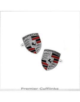 Silver Porsche Cufflinks