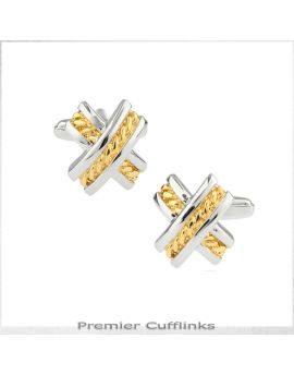 Silver and Gold X Cufflinks