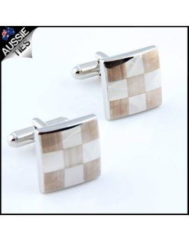 Mens 3x3 Check Board Cufflinks