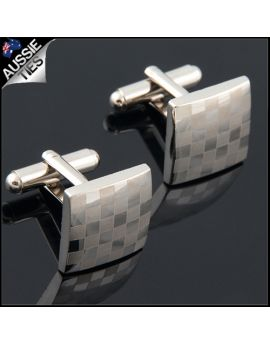Mens 5x5 Check Board Cufflinks