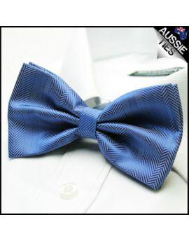 Denim Blue Zig Zags Bow Tie