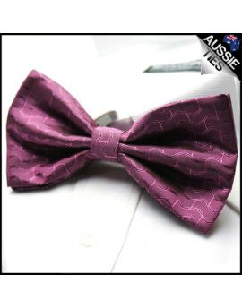 Purple Waves Bow Tie