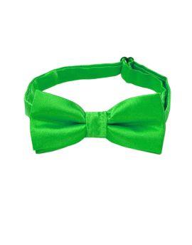 boy's bright green bow tie